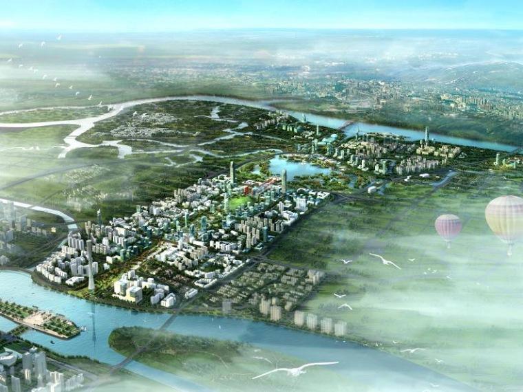 广州新城市中轴线南端及珠江后航道沿岸地区城市设计方案三:岭南之