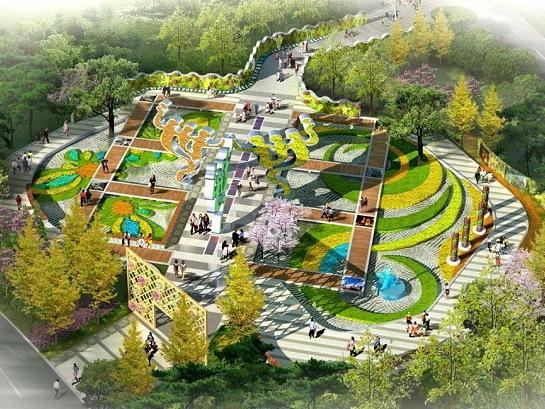第七届中国(济南)园博园城市展园效果图