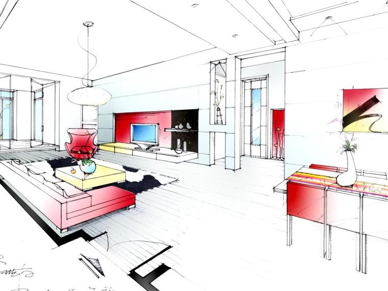 居室设计--手绘图