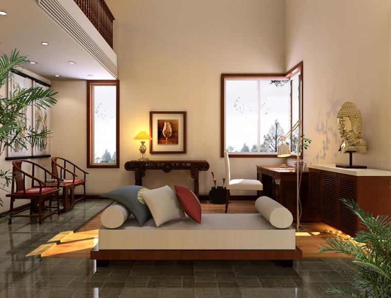 北京西山脚下豪宅香山清琴简约中式风格别墅设计作品