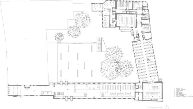 底层平面图 ground floor plan-乌德勒支大学图书馆第17张图片