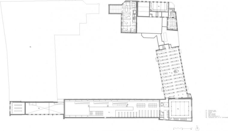 二层平面图 first floor plan-乌德勒支大学图书馆第19张图片