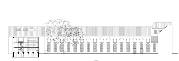 剖面图02 section 02-乌德勒支大学图书馆第21张图片