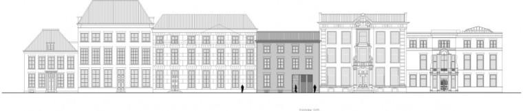 前立面图 front elevation-乌德勒支大学图书馆第24张图片