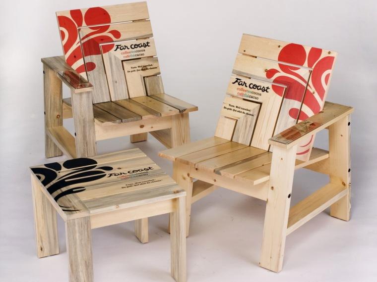 枫木茶几椅