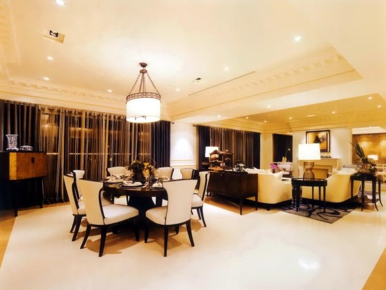 居室设计--元大建设一品苑150平方米样品屋台北