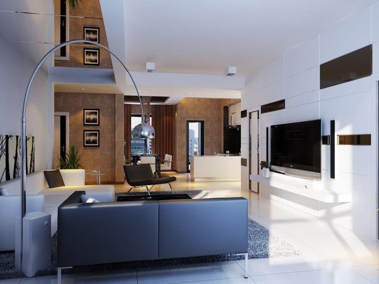 居室设计--天津海逸小区--现代简约
