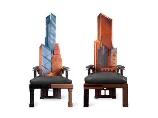 曼哈顿高背软垫椅