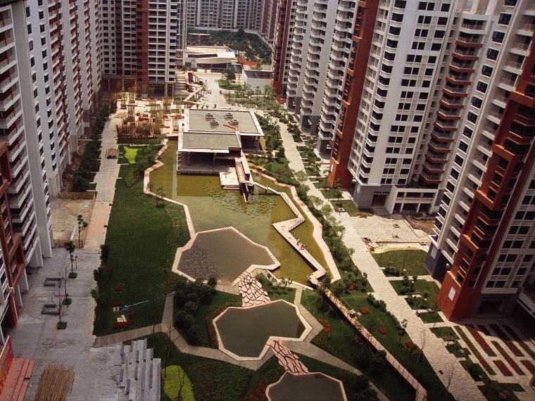 广州时代玫瑰园公共交流空间系统及景观