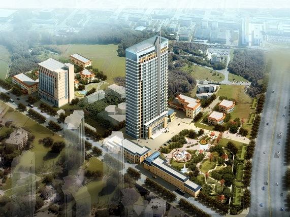 青岛金东数字科技有限公司-公共建筑效果图