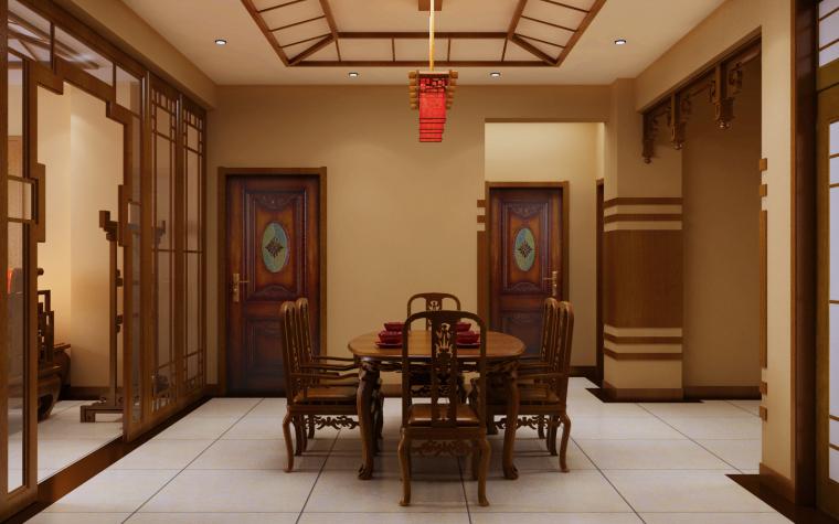 中式三居室效果图第6张图片