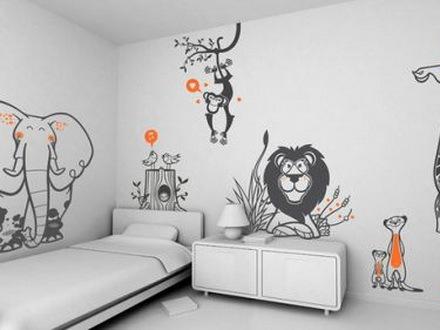 可爱的儿童卧房卡通壁纸