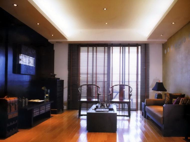 居室设计--中国风也是现代风---博泰江滨样板房A