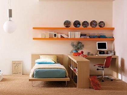 现代简约风格的年轻人卧室设计
