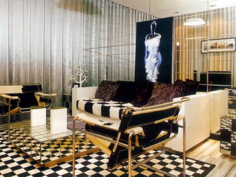居室设计--汉沿海赛洛城黑白格子样板间