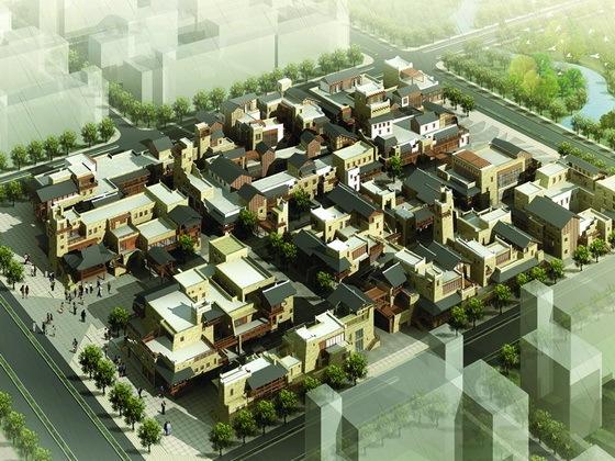 北川羌族自治县羌族特色商业步行街方案设计