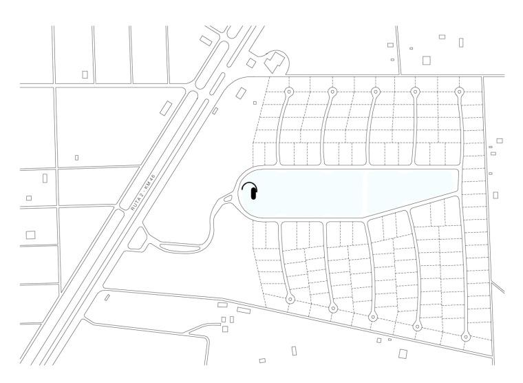 位置平面图 site plan-拉加迪达俱乐部第19张图片