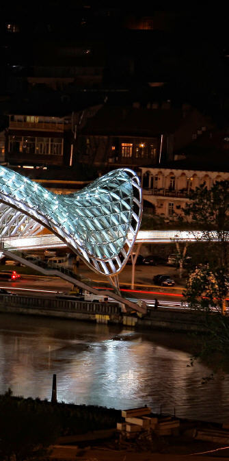 水上精灵--和平大桥夜景_2