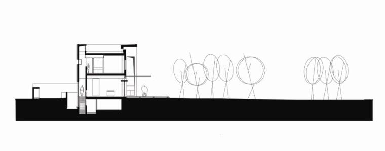 楼梯剖面图 cross section throu-阿哈罗尼住宅第29张图片