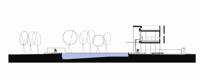 剖面图 cross section-阿哈罗尼住宅第31张图片