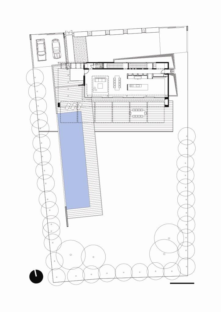 首层平面图 ground floor-阿哈罗尼住宅第32张图片