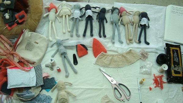 捧在手中暖暖的—手工编织兔子第7张图片