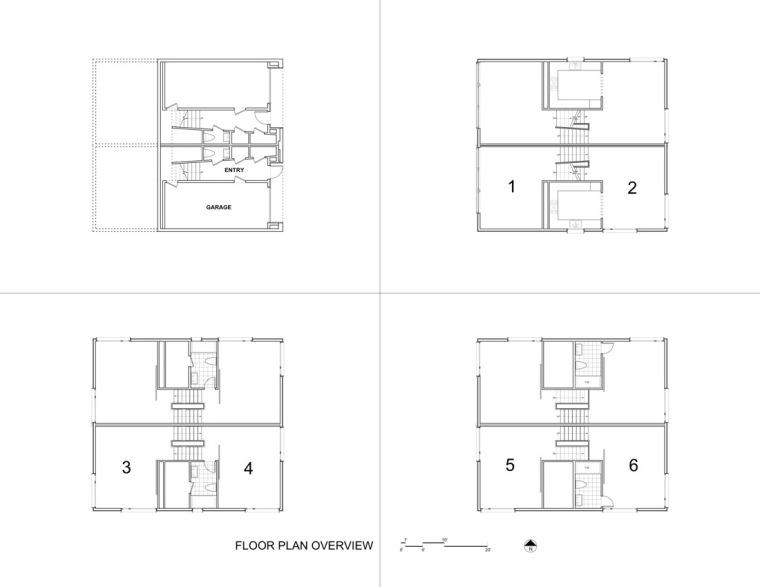 平面图 floor plans-Z住宅第9张图片