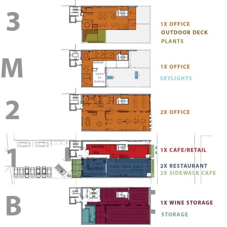 平面图 floor plans-克罗斯坦德办公楼第19张图片