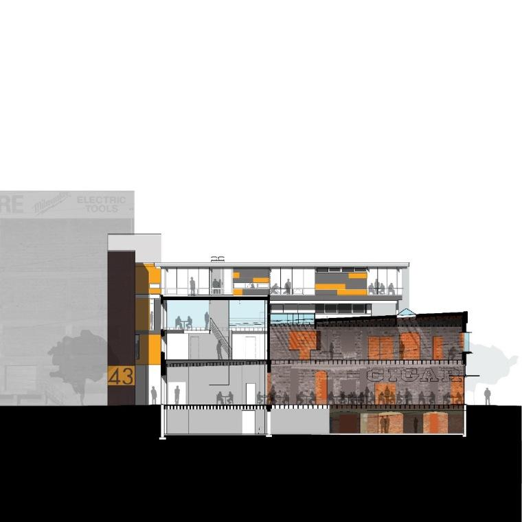 剖面图 section-克罗斯坦德办公楼第20张图片
