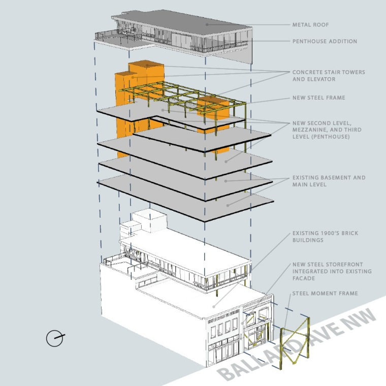 轴测图 axon-克罗斯坦德办公楼第23张图片