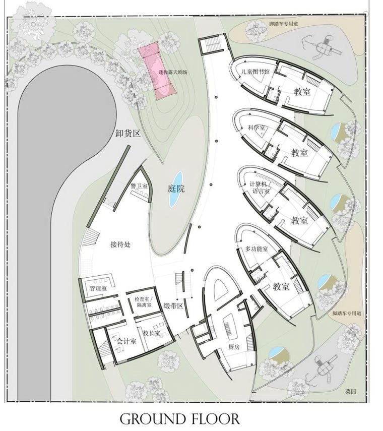 首层平面图 ground floor plan-大连幼儿园第9张图片