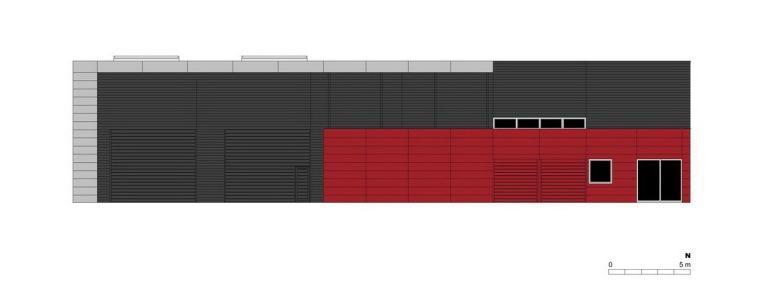 北立面图 north elevation-管理和服务大楼第20张图片