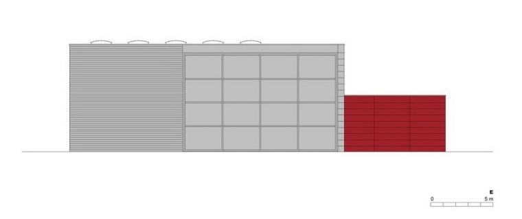 东立面图 east elevation-管理和服务大楼第21张图片