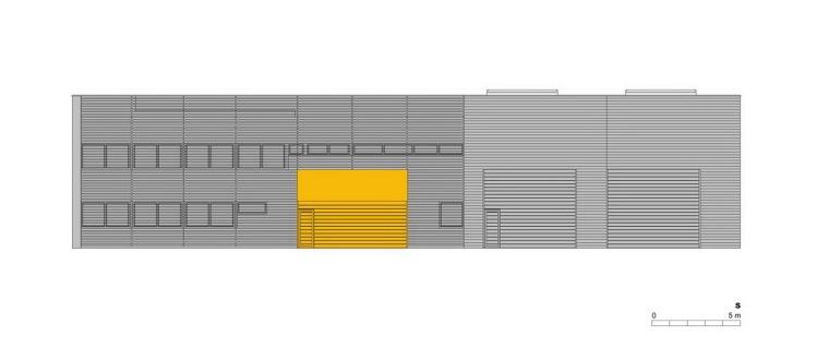 南立面图 south elevation-管理和服务大楼第23张图片