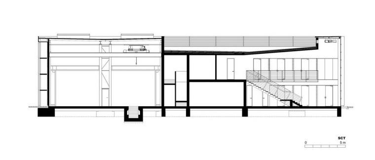 剖面图 section-管理和服务大楼第24张图片