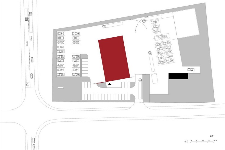 位置平面图 site plan-管理和服务大楼第25张图片