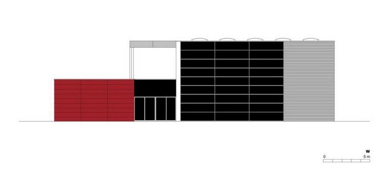 西立面图 west elevation-管理和服务大楼第26张图片