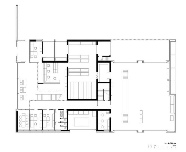 一层平面图 level one plan-管理和服务大楼第27张图片