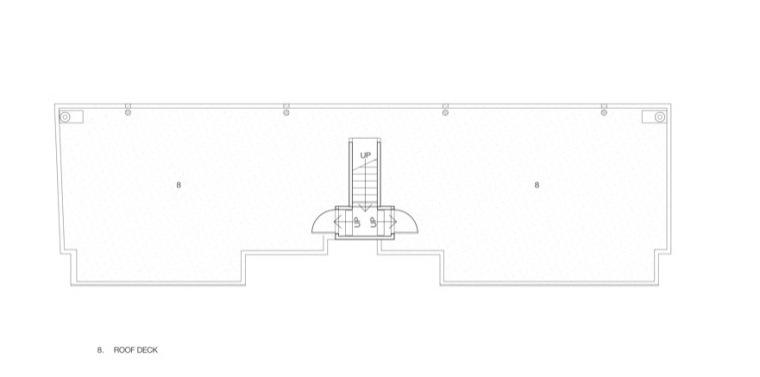 顶楼平面图 roof plan-玻璃住宅第14张图片