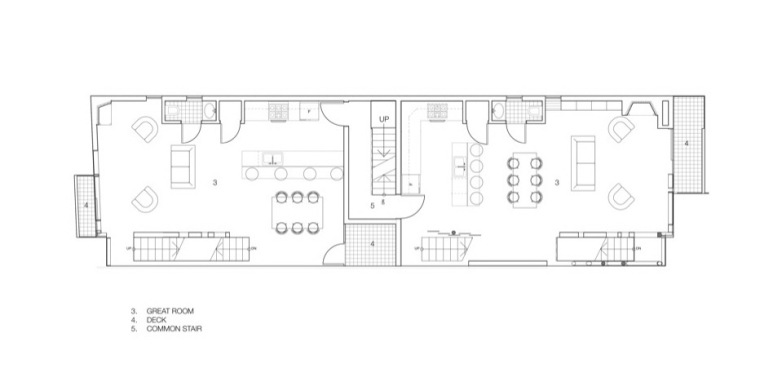 三层平面图 second floor plan-玻璃住宅第15张图片