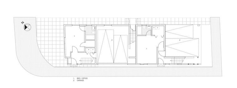 首层平面图 ground floor plan-玻璃住宅第16张图片