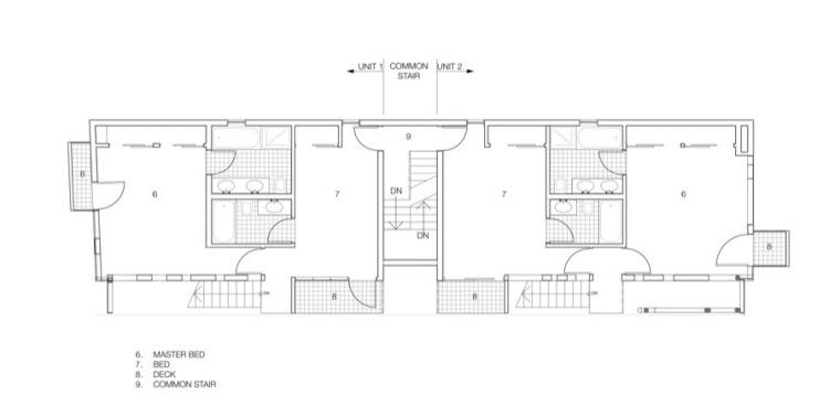 四层平面图 third floor plan-玻璃住宅第17张图片