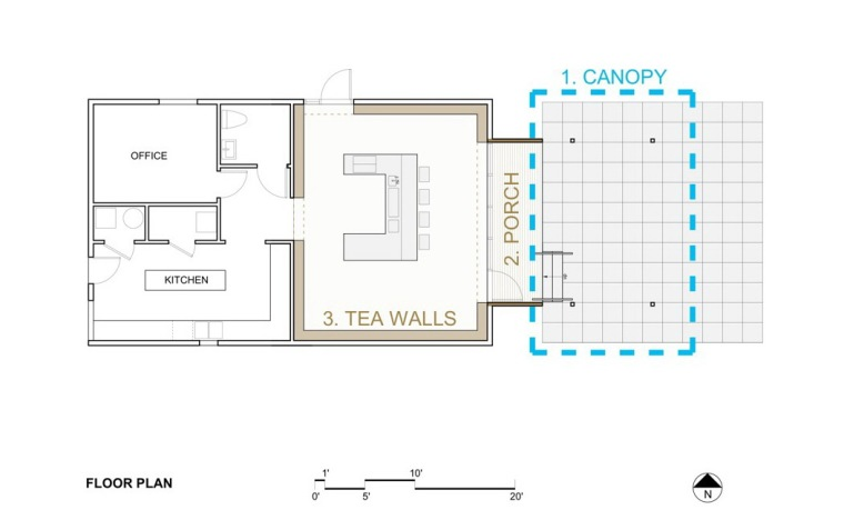 平面图 floor plan-J-Tea茶店第8张图片