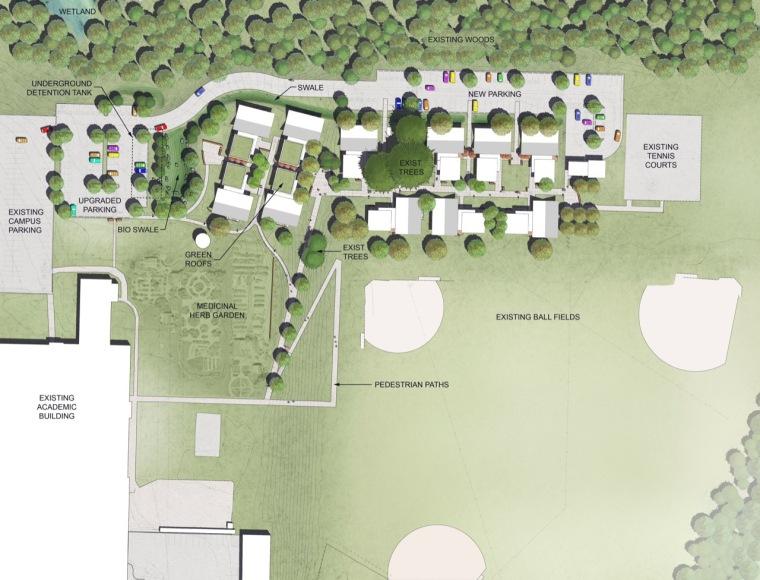 位置平面图 site plan-巴斯蒂尔大学学生公寓第13张图片