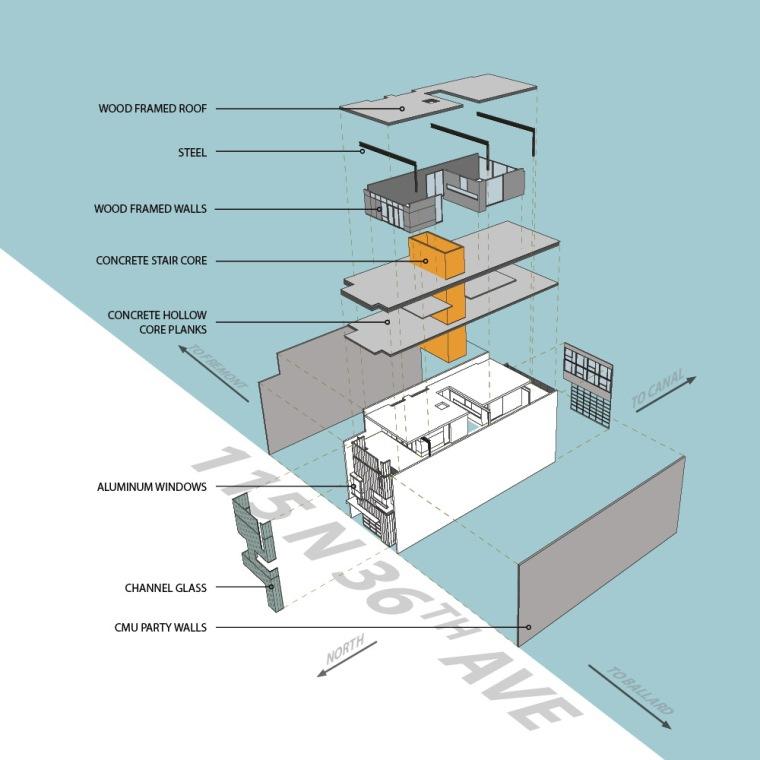 轴测图 axon-115综合楼第14张图片