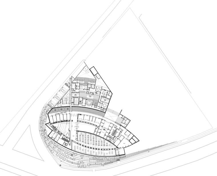 平面图 floor plan-圣乔斯马瑞艾斯奎瓦教堂第13张图片