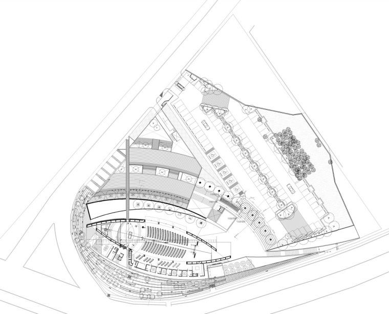位置平面图01 site plan01-圣乔斯马瑞艾斯奎瓦教堂第19张图片