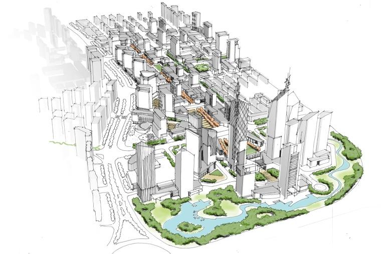 哈尔滨市松北区金融商贸中心城市设计第5张图片