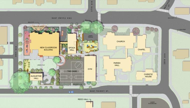位置平面图 site plan-基督教私立学校第13张图片