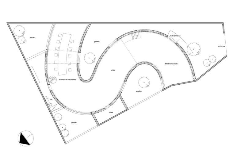 首层平面图 ground floor plan-岩石办公室第25张图片